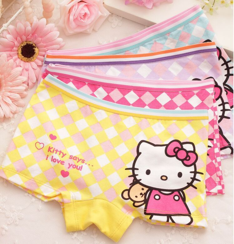 4pcs lot Children kids girls cartoon character underwear Briefs Panties underpants tnn8133