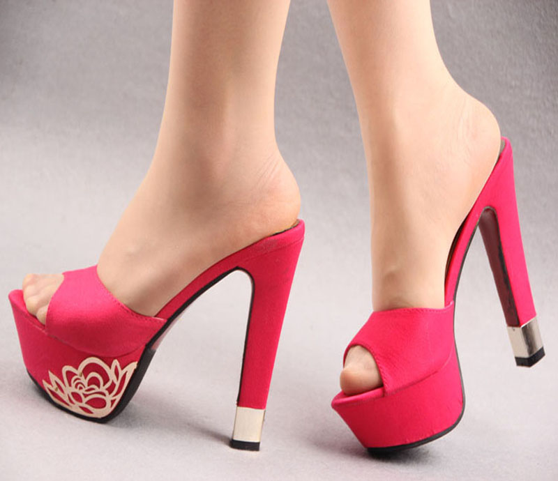 Slipper High Heels Tsaa Heel
