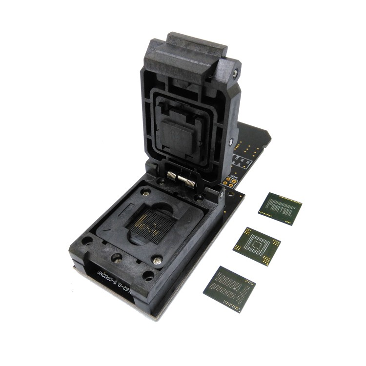 3 IN 1 eMMC153/169 eMCP162/186 eMCP221 Test Socket Reader BGA153 BGA169 BGA162 BGA186 BGA221 Data Recovery 11.5x13mm 12x16mm