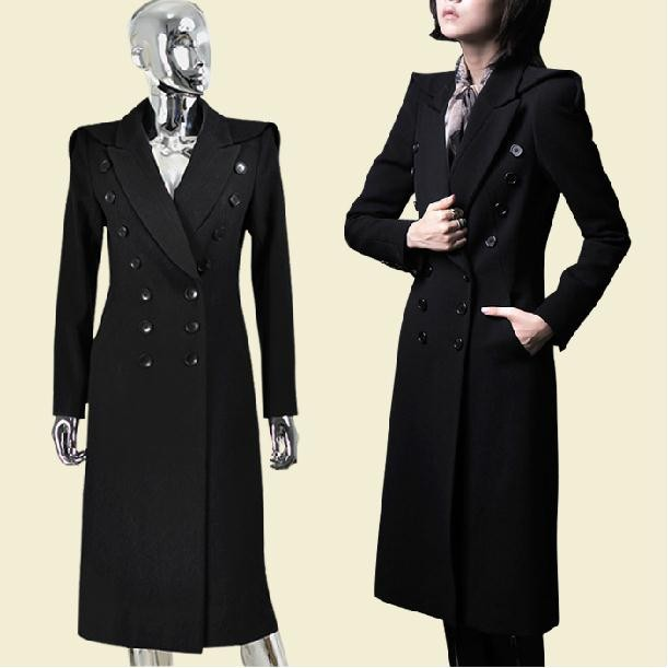 44c7517a80ec Click here!! winter new military uniform double-breasted maxi winter coats  woolen long trench coat