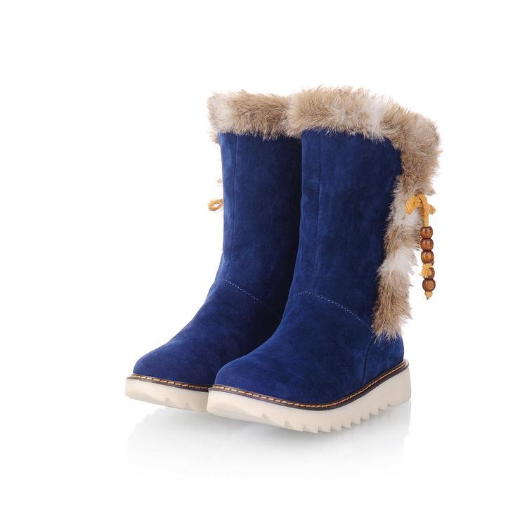 Flat Shoes With Fur Inside