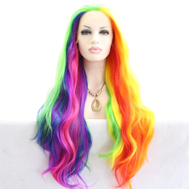Popular Rainbow Lace Front Wigs Buy Cheap Rainbow Lace