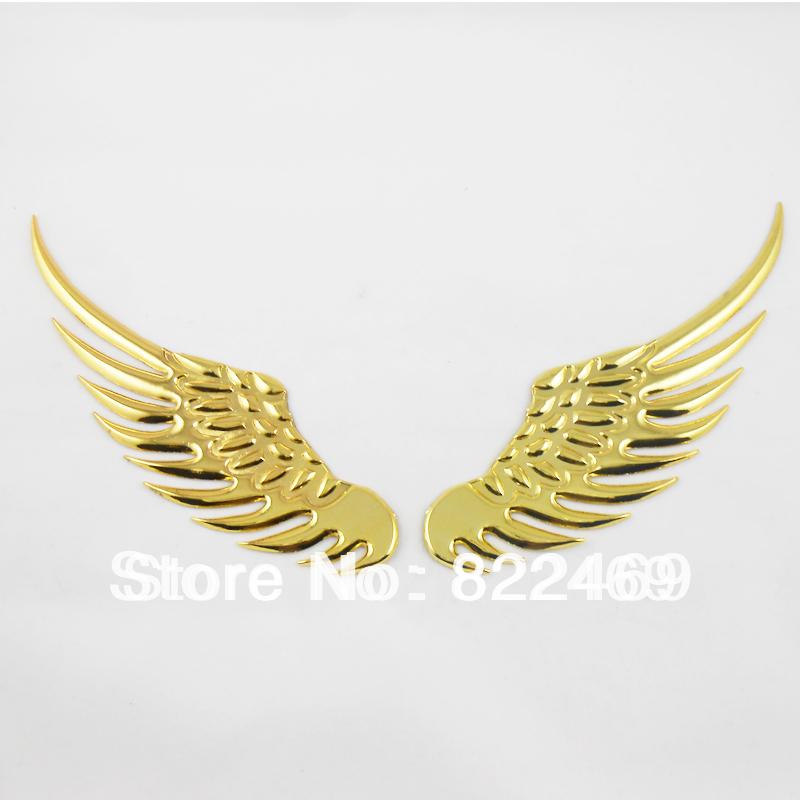Pair 3D Decor Decal Angel Wings Eagle Car Badge Emblem ...