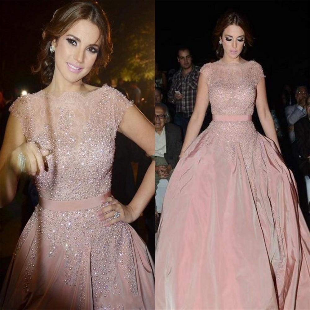 blush pink formal evening dress 2016 beading robe de soiree dubai arabic gala vestidos de festa. Black Bedroom Furniture Sets. Home Design Ideas