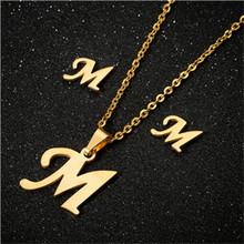 Yiustar модное простое алфавитное ожерелье s для женщин из нержавеющей стали ожерелье цепь A-Z ожерелье с буквенными подвесками оригинальный ин...(Китай)