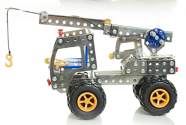 Model Building Kits engineering forklift toys, children's