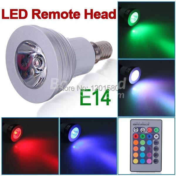 16 colors changing rgb led lamp 3w e14 ac85 265v rgb led bulb lamp spotlight with remote control. Black Bedroom Furniture Sets. Home Design Ideas