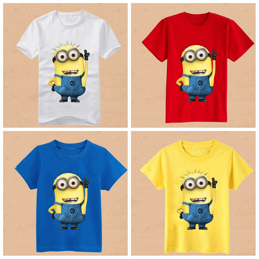 2769d2b7 Boys Girls T-shirt Minions Printed Despicable Me Anime Figure Children's  Clothing Kids Wear Apparel