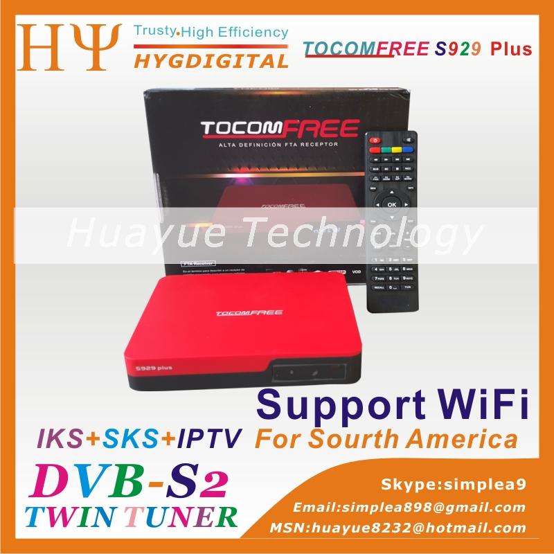 TOCOMFREE S929 PLUS Digital Satellite Receiver Full HD DVB-S2 Twin