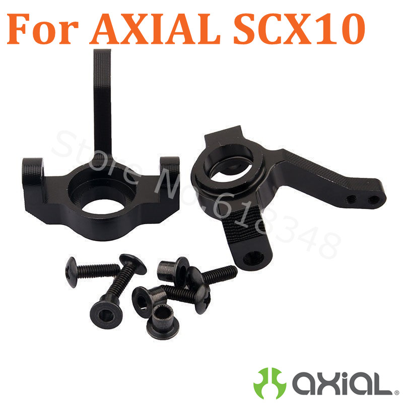 For AXIAL 1/10  Rock Crawler RC Car Upgrade Parts Aluminum Front Knuckle Arm Upright Steering 1:10 SCX-10 SCX10-01