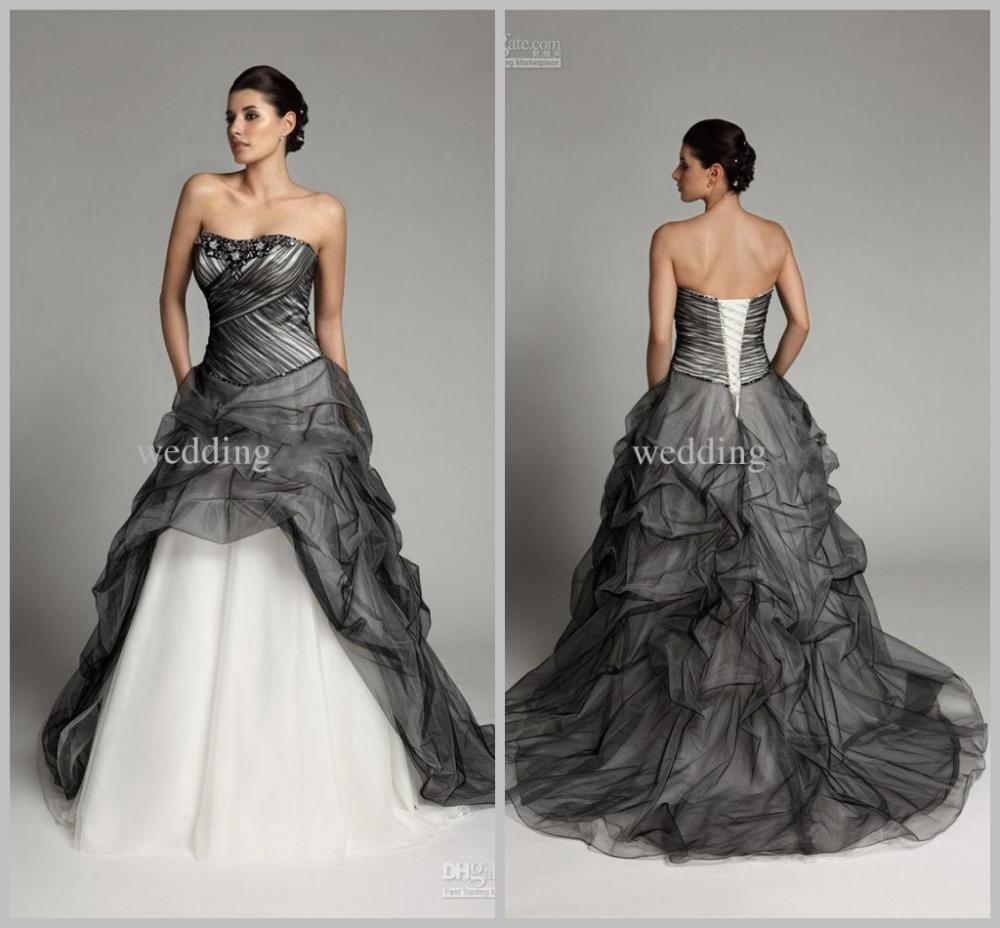 New Style Black Gothic Plus Sizes Wedding Dresses With: Achetez En Gros Gothique Robe De Mariée En Ligne à Des