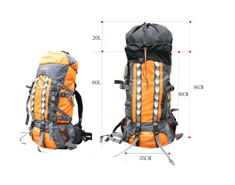 311475187c5d High quality Large Capacity 100L Mountaineering Sports Travel Bags Outdoor  Sports Camping Hiking Climbing man rucksack backpack