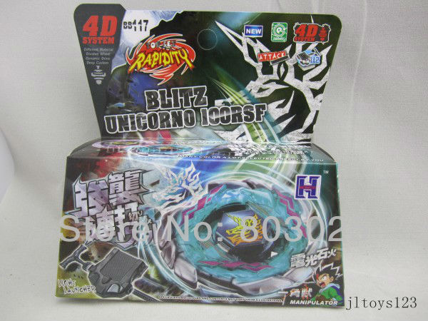 Free Shipping Metal Fusion 4D Beyblade BB117 Blitz Unicorno 100RSF Bey Blade Super Speed Spinning Top