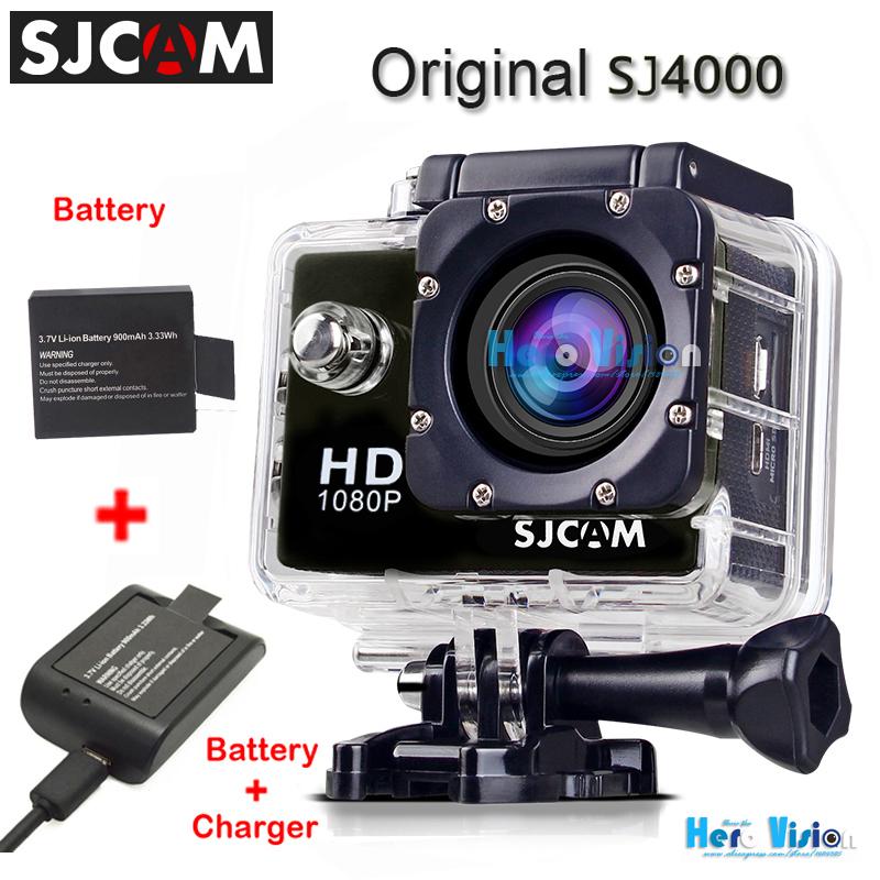 Original SJCAM SJ4000 Action Camera + An Extra Battery + Battery Charger 1080p
