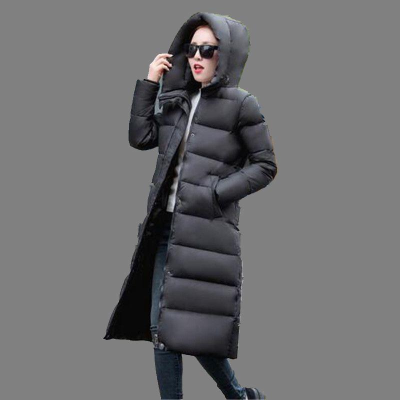 Korea font b Winter b font 2016 Latest Fashion Women Coat Thicken Warm Hooded Loose Big