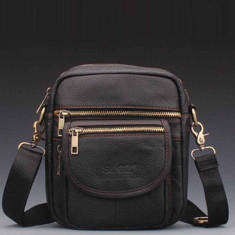 В кожа мужчины в кожа наплечная сумка сумка-мессенджер свободного покроя мешок