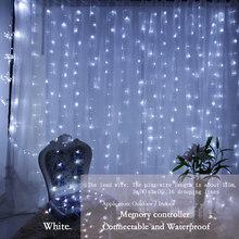 3x3 м 300 СВЕТОДИОДНАЯ Гирлянда, сказочные огни для свадьбы, сада, вечеринки, светодиодная занавеска, декор, рождественские гирлянды, световые ...(Китай)