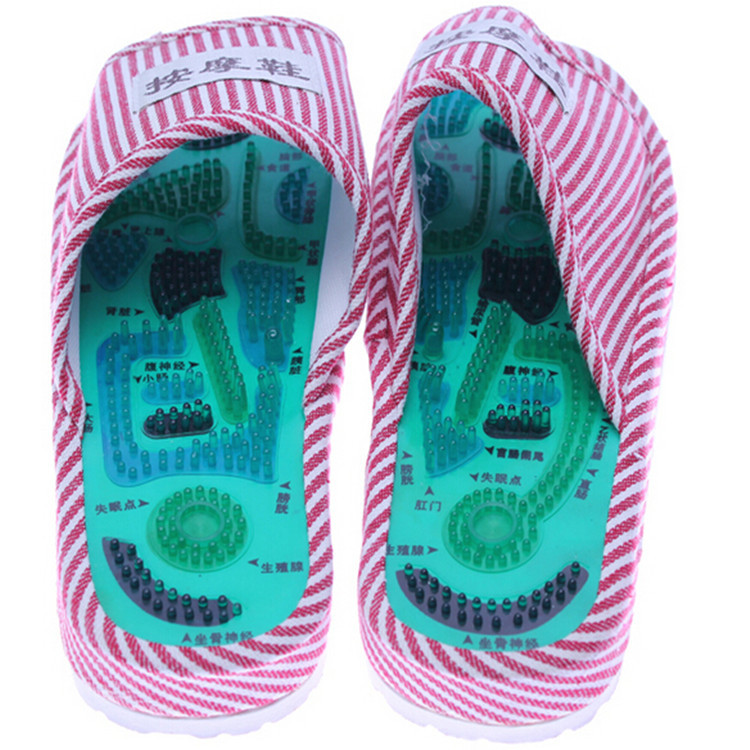 3dfd2d07c6b7 Acupuncture Massage Slipper Shoes Reflexology Health Body Care Chinese  Taichi Sandal Foot Walking Feet Healty Body