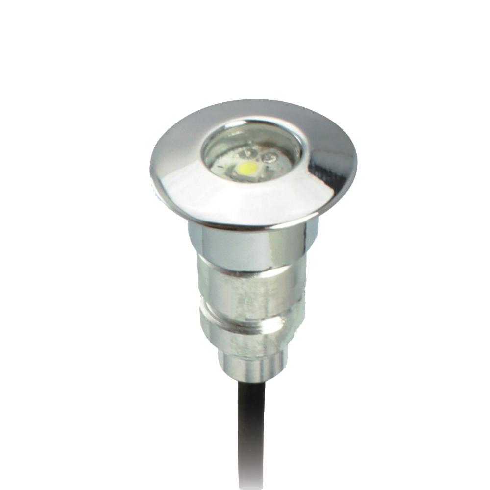 ip67 24mm mini led deck lights 12v 0 6w recessed led stairs lamp for outdoor lighting garden. Black Bedroom Furniture Sets. Home Design Ideas