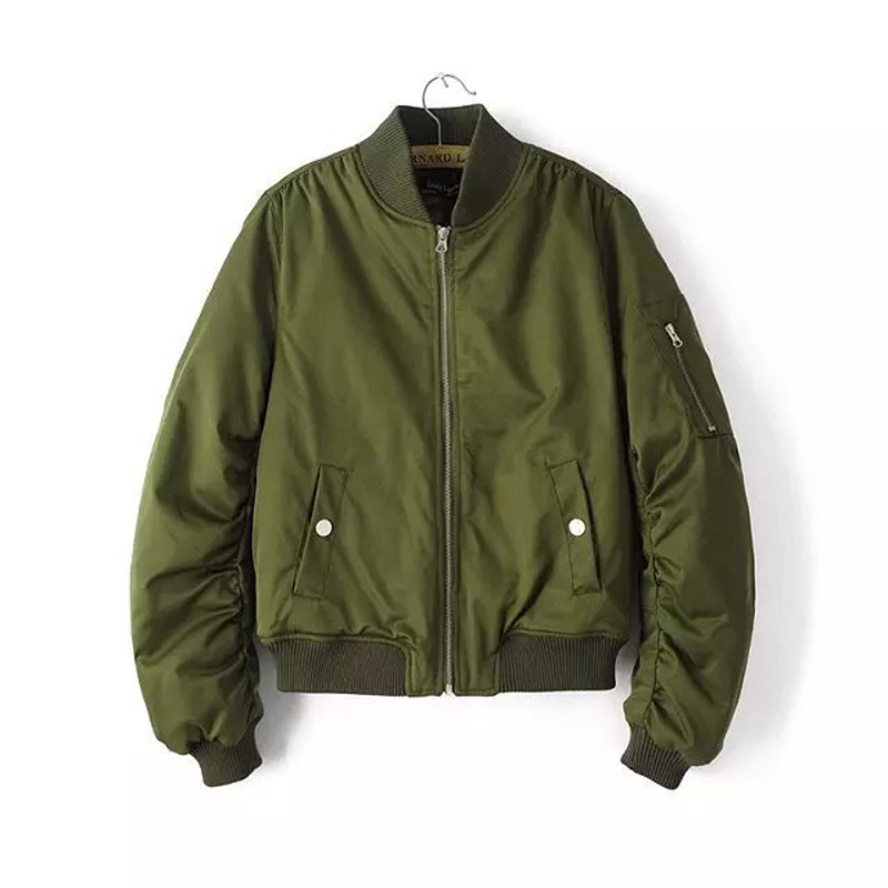 2016 Woman Bomber Jacket Baseball Flight Military Army