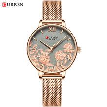 CURREN, женские часы, Лидирующий бренд, роскошные, ремешок из нержавеющей стали, наручные часы для женщин, розовые часы, Стильные кварцевые женс...(Китай)