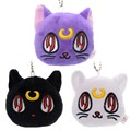 Lovely Sailor Moon Black Purple Luna Cat Plush Anime Action Figure Cartoon Cats Collectible Girls Chain
