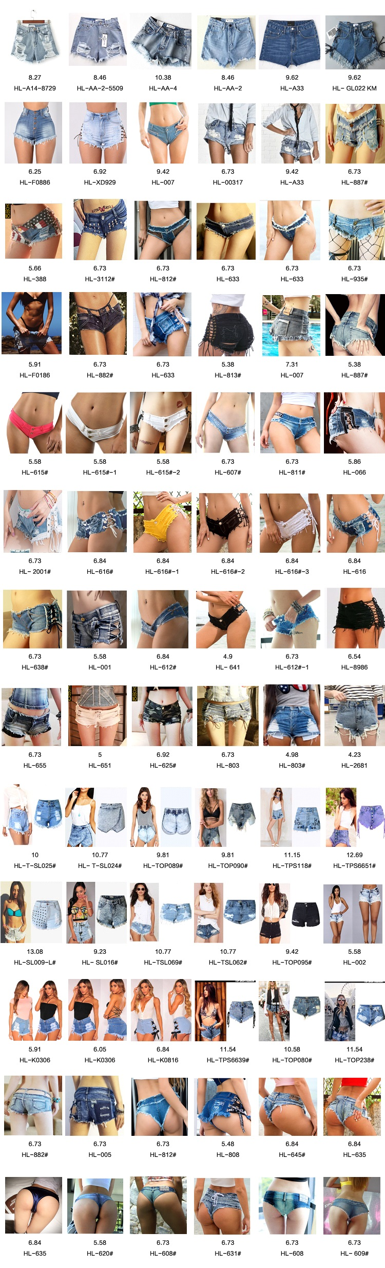 93179c378d Women High waisted blue denim shorts irregular hem broken holes fashion  Distressed Jeans oem. For Women's Jeans ,pls check our store