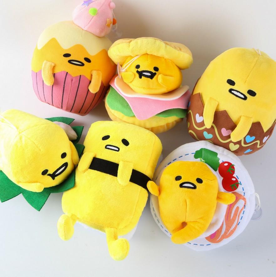 1pcs gudetama lazy egg Eggs jun Egg yolk brother Sushi Cake style Plush toys doll 20160502
