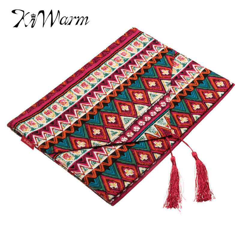 New Arrival National style Reversible Bohemian Tassel Tablecloth Cotton Table Runner For Home Party Decor Fabric Crafts