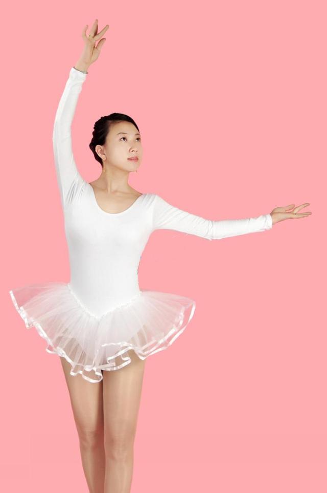 Long Sleeve Adults Ballet Dance Leotard Dress for Women ...