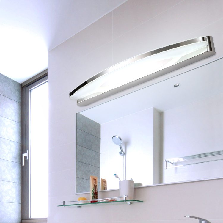 Pre modern minimalist led mirror light water fog - Bathroom vanity mirror side lights ...