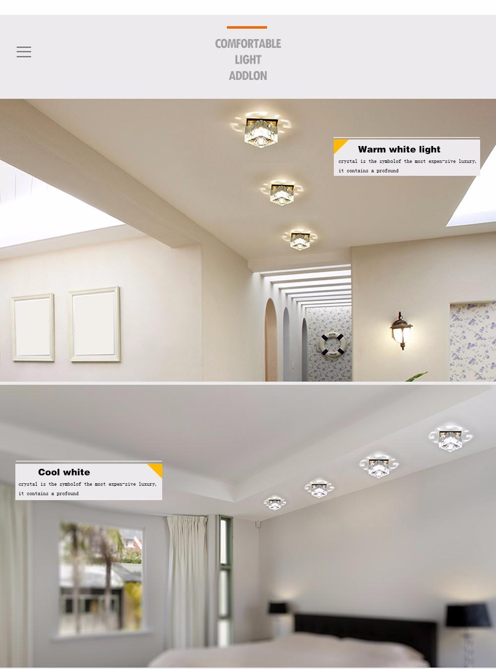 Fumat Modern Ceiling Light K9 Crystal Ball Lustre Mount Hallway Lighting Fixture Led Plafondlamp Luminaria Pendant Ceiling Lamp Comfortable And Easy To Wear Lights & Lighting Ceiling Lights & Fans