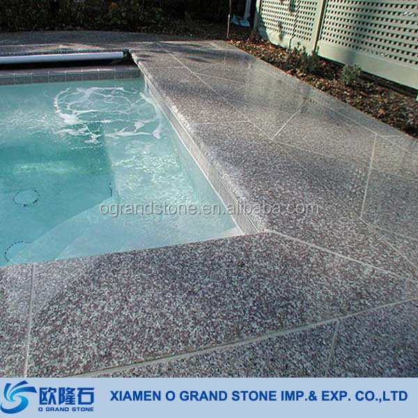 Wholesale Bullnose Swimming Pool Dark Grey Granite Pool