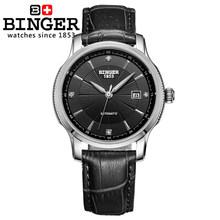 Switzerland BINGER часы, мужские роскошные брендовые автоматические механические часы с самоходным механизмом, полностью из нержавеющей стали, с ре...(Китай)