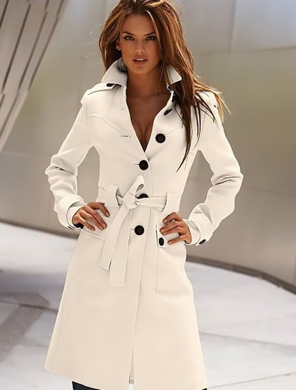 Wool trench coats for women