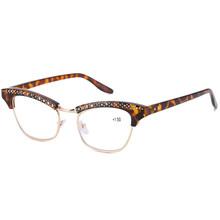 Женские очки для чтения 2020, высококачественные черные новые зеркальные очки из смолы с изображением кота, алмазная пластиковая оправа, очки...(Китай)