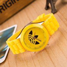 2018 новые модные роскошные Брендовые Часы для женщин и мужчин силиконовые спортивные часы студенческие кварцевые наручные часы Relogio Feminino(Китай)