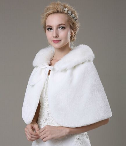 Classic Off White/ Ivory Faux Fur Shrug Bridal Wedding