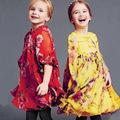 2016 new fashion baby girl dress long sleeve baby girls dresses printed dress princess spring autumn