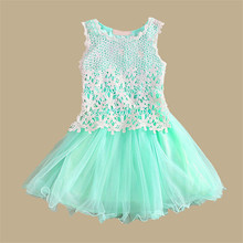 High Quality Autumn Baby Girl Dress Bebe Tutu Lace Flower Dress for Girl Infant for children