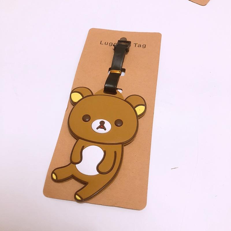 99cf4c228397 Anime cartoon Rilakkuma PVC key chain cute cos animal small bear rabbit  personality novelty luggage tag tourist souvenir keyring