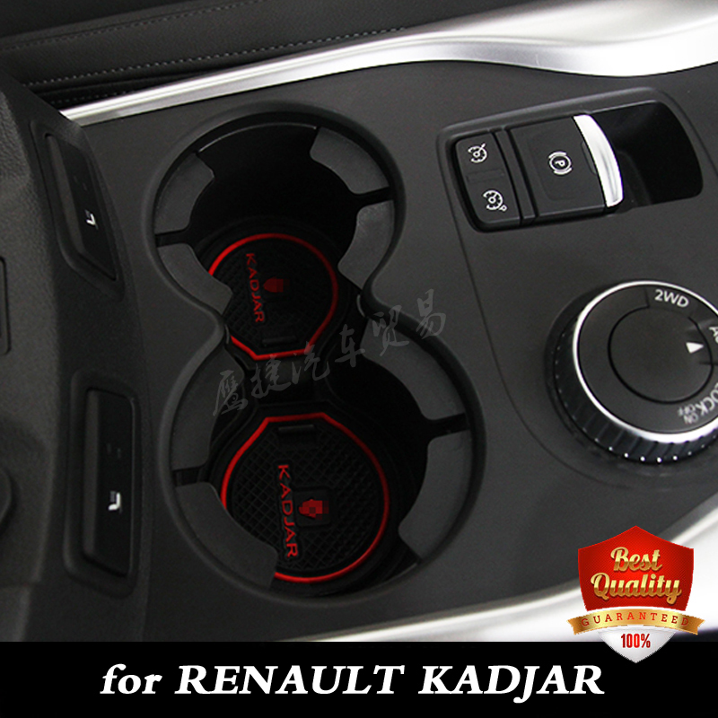 free shipping renault kadjar cup mat pad car accessories gate slot pad door pad luminous non. Black Bedroom Furniture Sets. Home Design Ideas