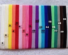 100pcs lot 20 Colors Wholesale Elastic Headband Baby Flexible Shimmery Shimmer Stretchy Hair Band Headwear Freeshipping
