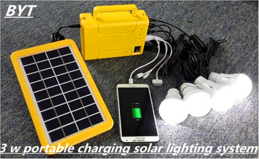Portable Charging System Rechargeable Battery Solar Power