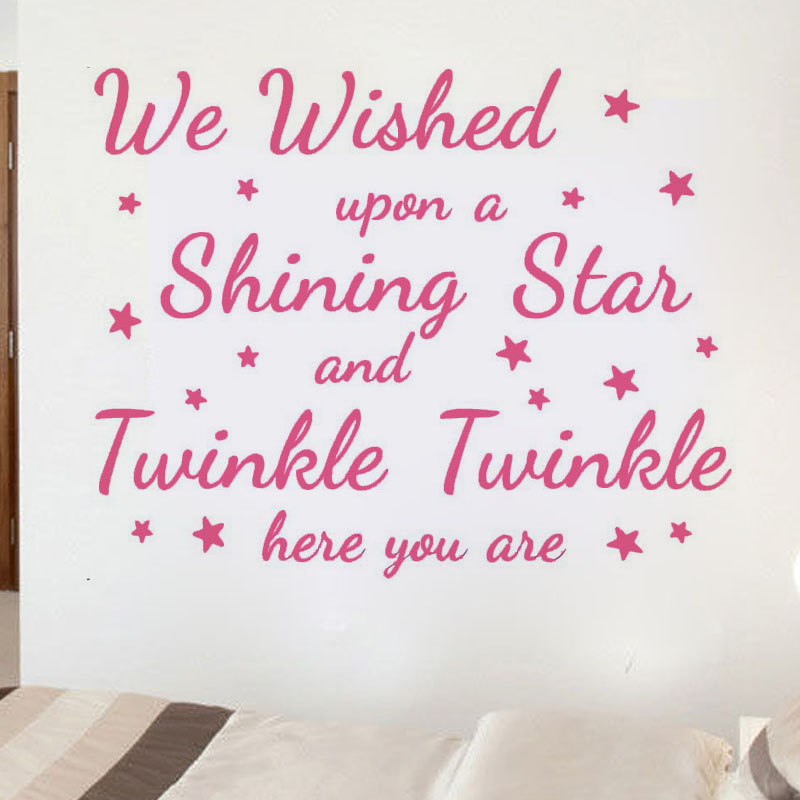 Shining Star And Twinkle Twinkle Wall Sticker DIY Removable Home Decor Vinyl Art Cute Wall Decal