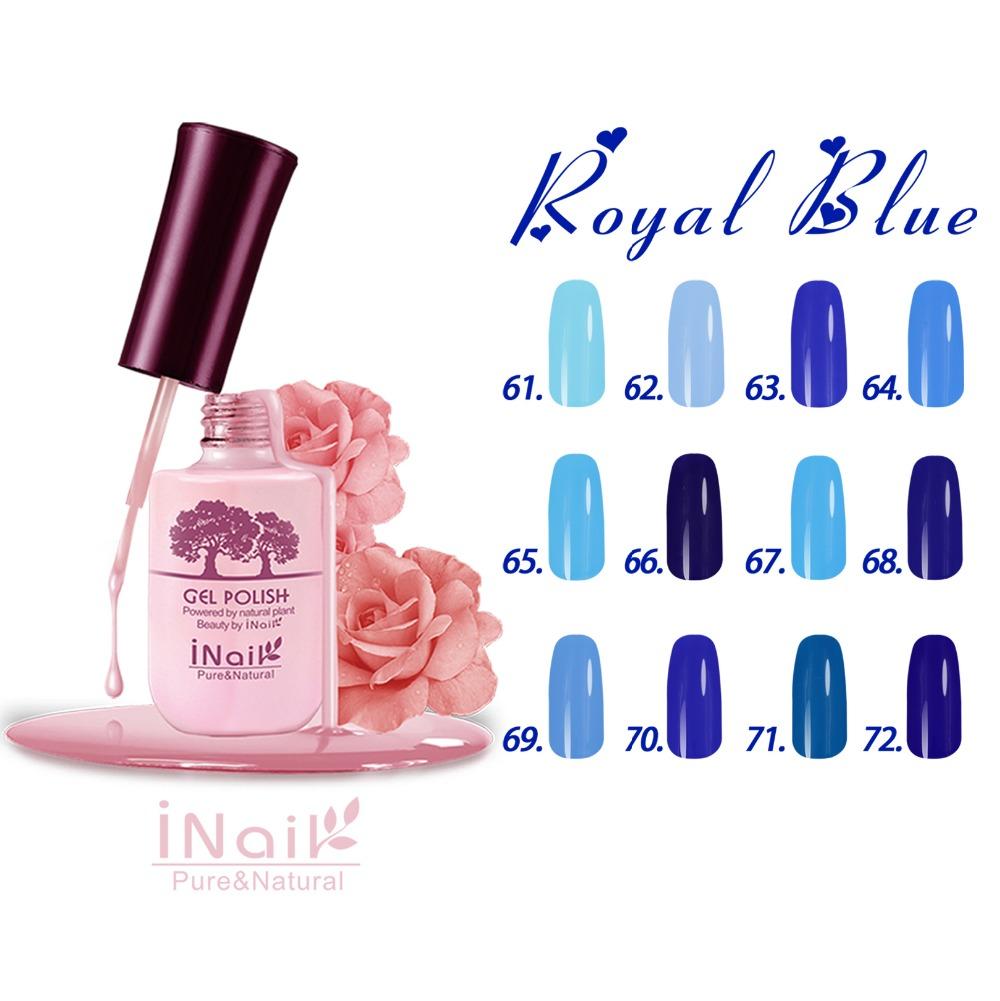 Free shipping  6pcs Inail UV Gel nail polish 15ml 12 colors for choice Royal Blue