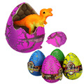4Pcs set Creative Colorful growing water hatching dinosaur egg resuscitate toys Growing pet