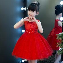 Милый детский праздничный сарафан, вечерние платья принцессы темно-синего цвета с цветочным принтом для маленьких девочек, Свадебные мероп...(Китай)