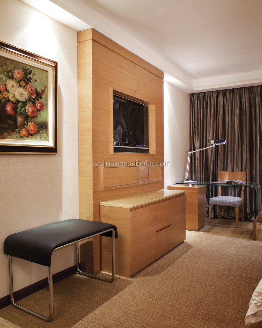 Used Hotel Bedroom Furniture For Sale With Tv Panel Xy-pt
