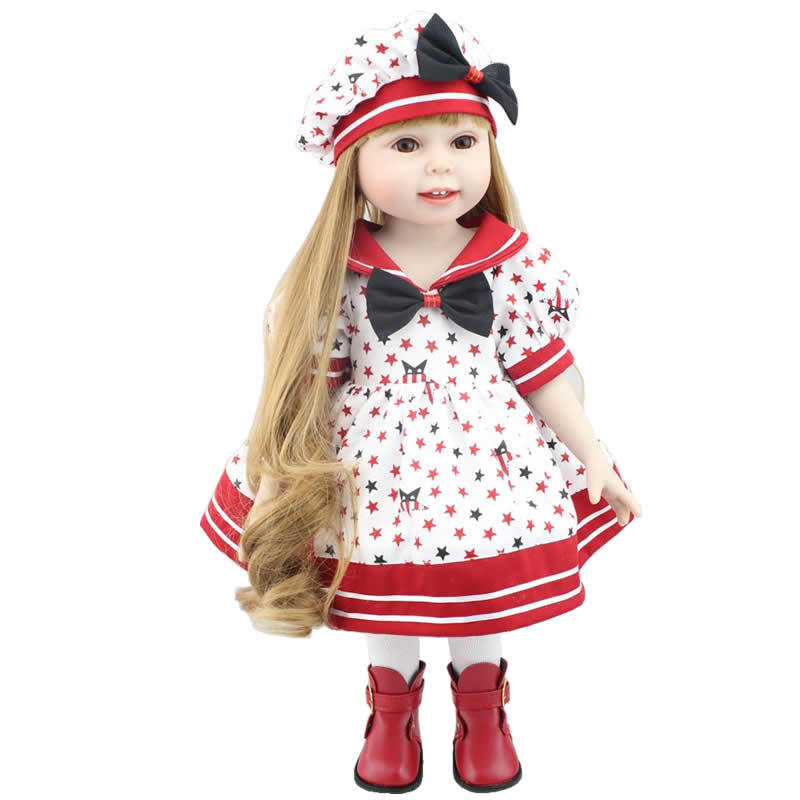 18 Inch American Dolls For Girls Fashion Reborn Baby Doll ...
